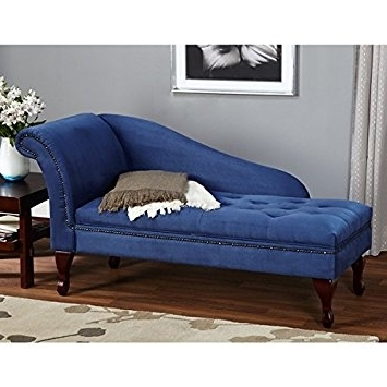 Sofa Lounge Chairs In 2018 Amazon: Blue Chaise Storage Lounge Chair Sofa Loveseat For (View 8 of 10)