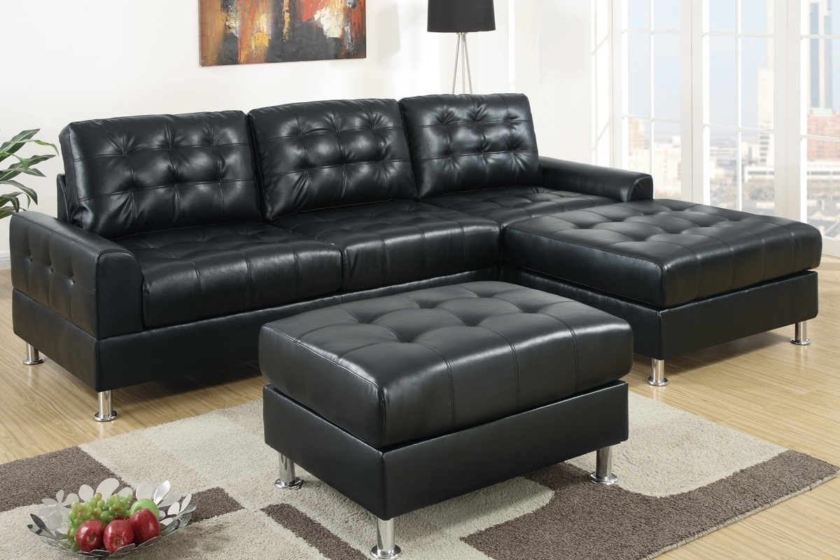 Sofa ~ Luxury Black Leather Sectional Sofa Left Side Chaise Intended For Well Liked Black Leather Sectionals With Chaise (View 14 of 15)