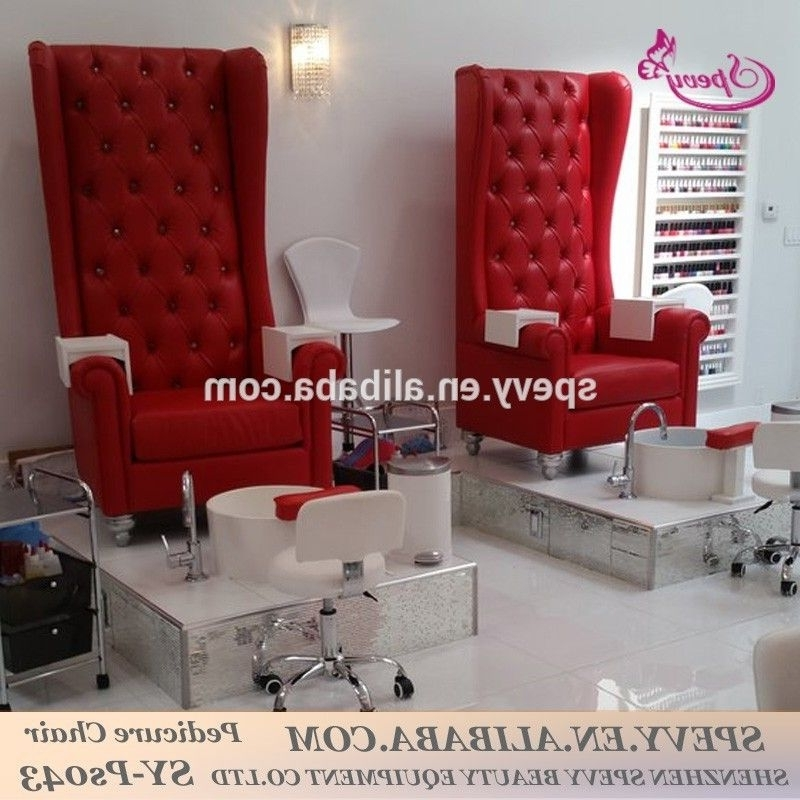Sofa Pedicure Chairs Inside Trendy Spevy High Back Throne Pedicure Chairs For Pretty Nail Salon Shop (View 10 of 10)