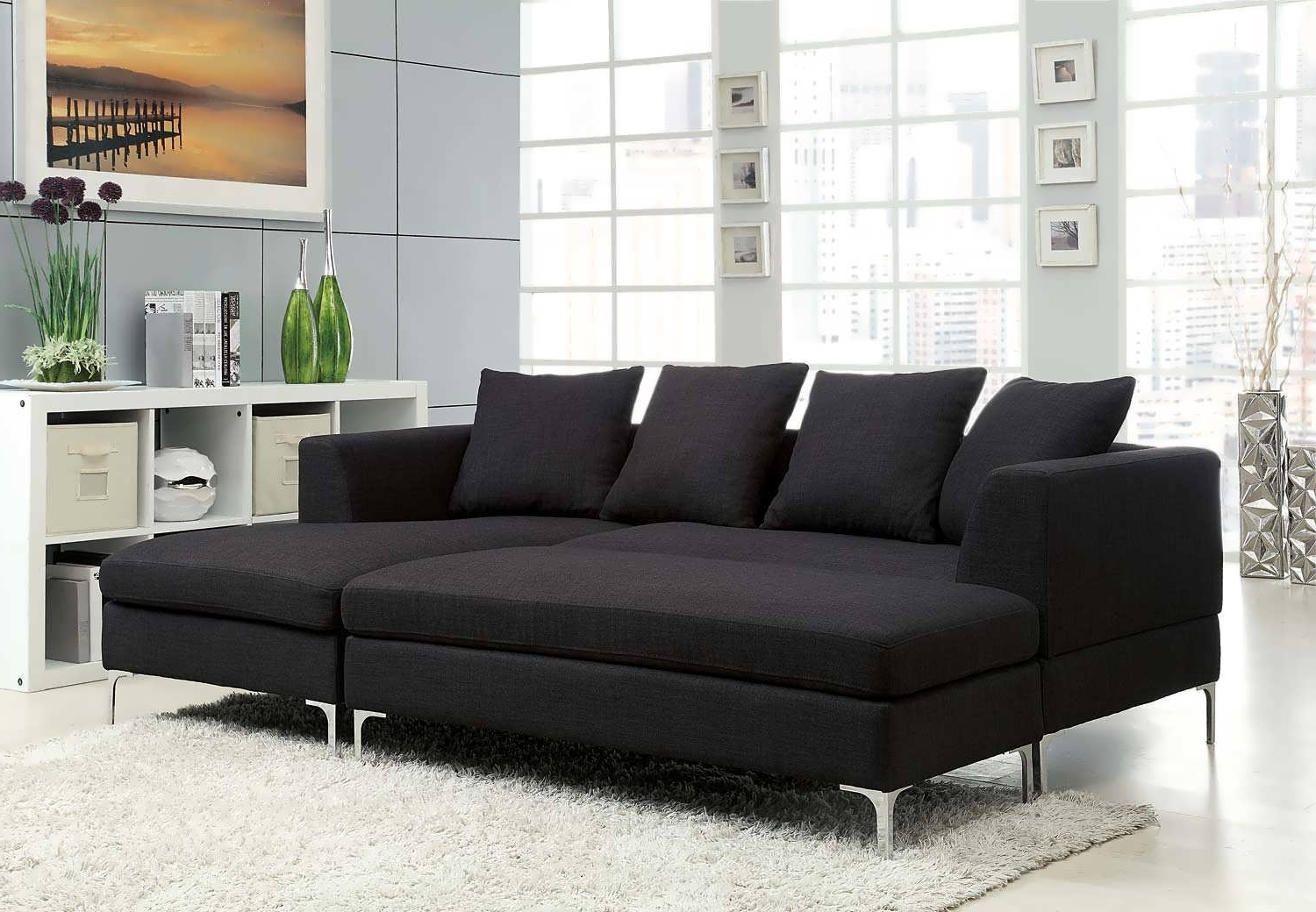 Sofa : Sectional Navy Blue Sectional Grey Leather Sectional Grey Throughout Latest Chaise Sofa Sectionals (View 3 of 15)