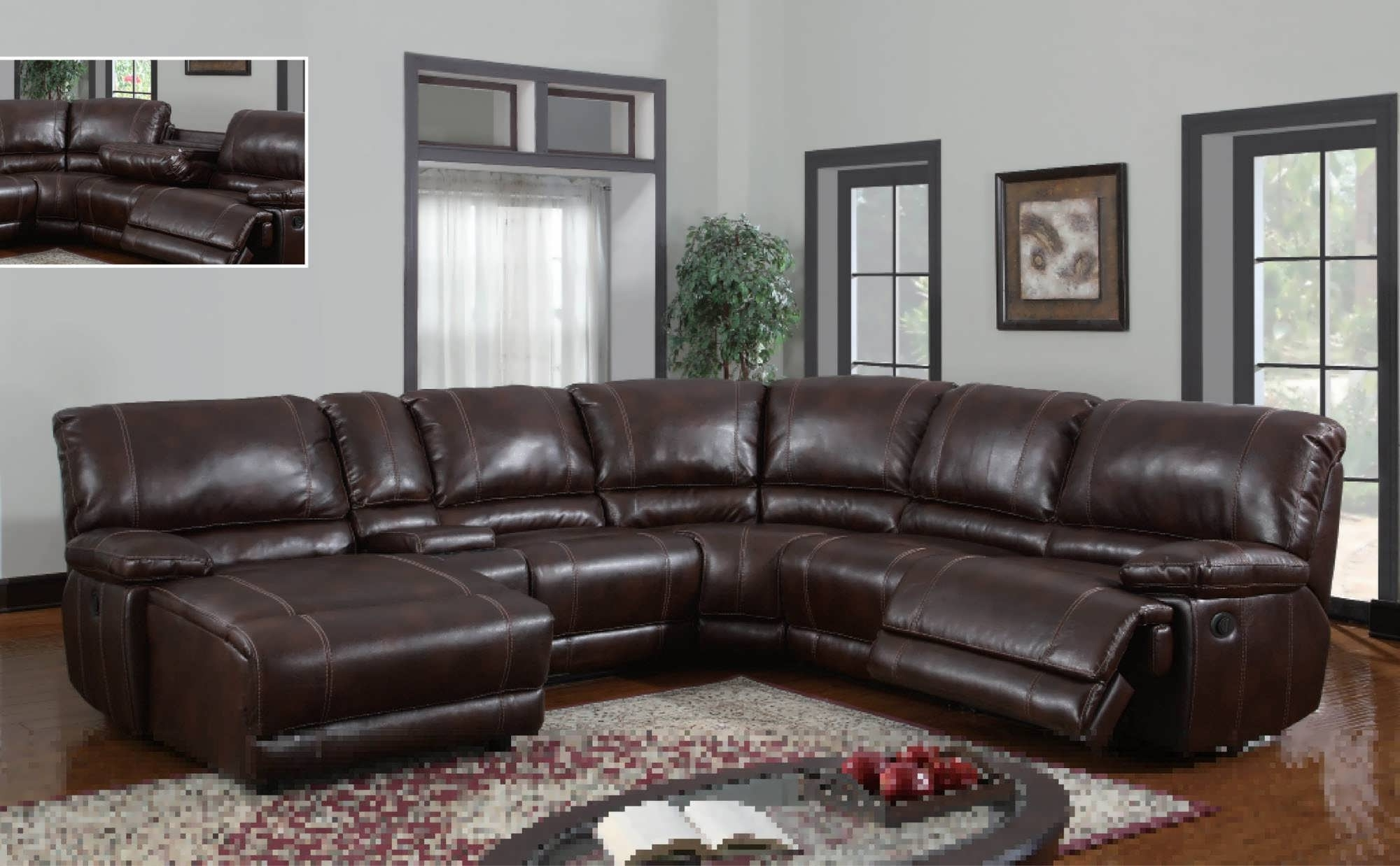 Sofa : Small Leather Sectional Modern Sectional Living Room Throughout Newest Genuine Leather Sectionals With Chaise (View 6 of 15)