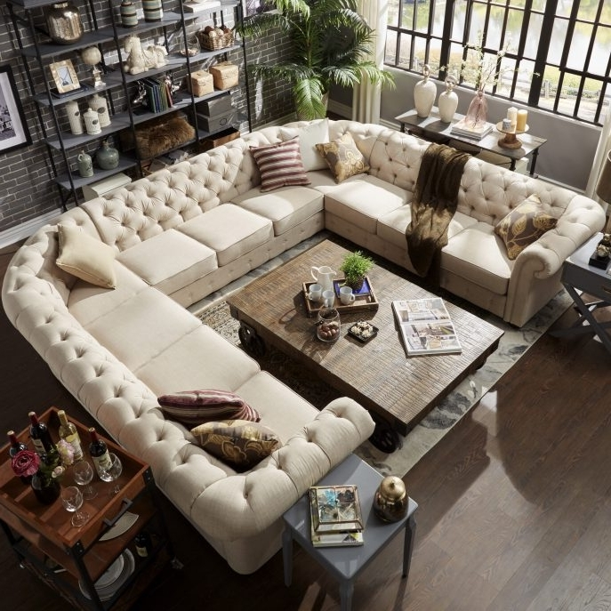 Sofa : U Shaped Leather Sofa Small Sectional Sofa With Recliner U Within Recent Reclining U Shaped Sectionals (View 3 of 10)