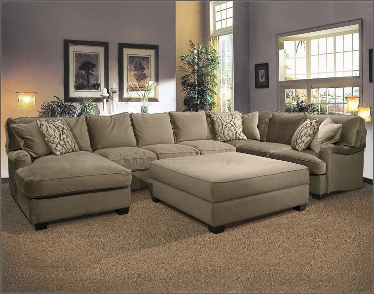 Sofas With Large Ottoman In Best And Newest U Shaped Fabric Sectional Sofa With Large Ottoman On Super Elegant (View 7 of 10)