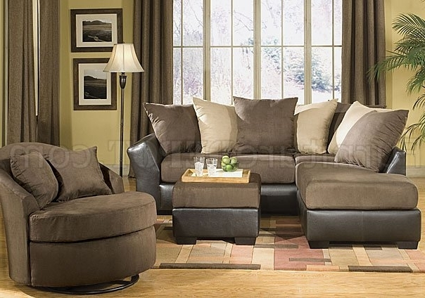 Sofas With Oversized Pillows Pertaining To Current Scatter Back Modern Sectional Sofa W/oversized Back Pillows (View 9 of 10)