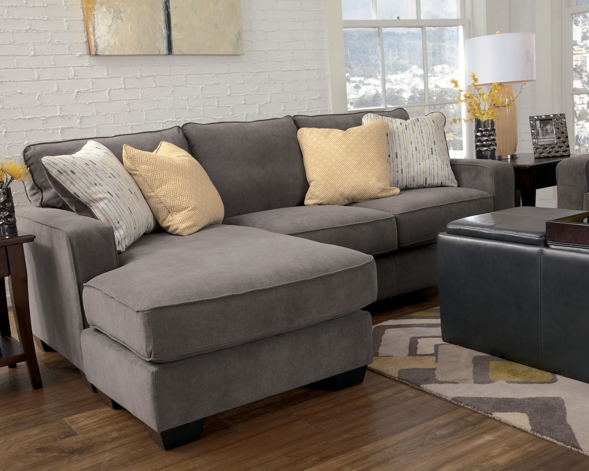 Sofas With Reversible Chaise Intended For Current Marble Contemporary Sofa Chaise Living Room Furniture Fabric (View 7 of 15)