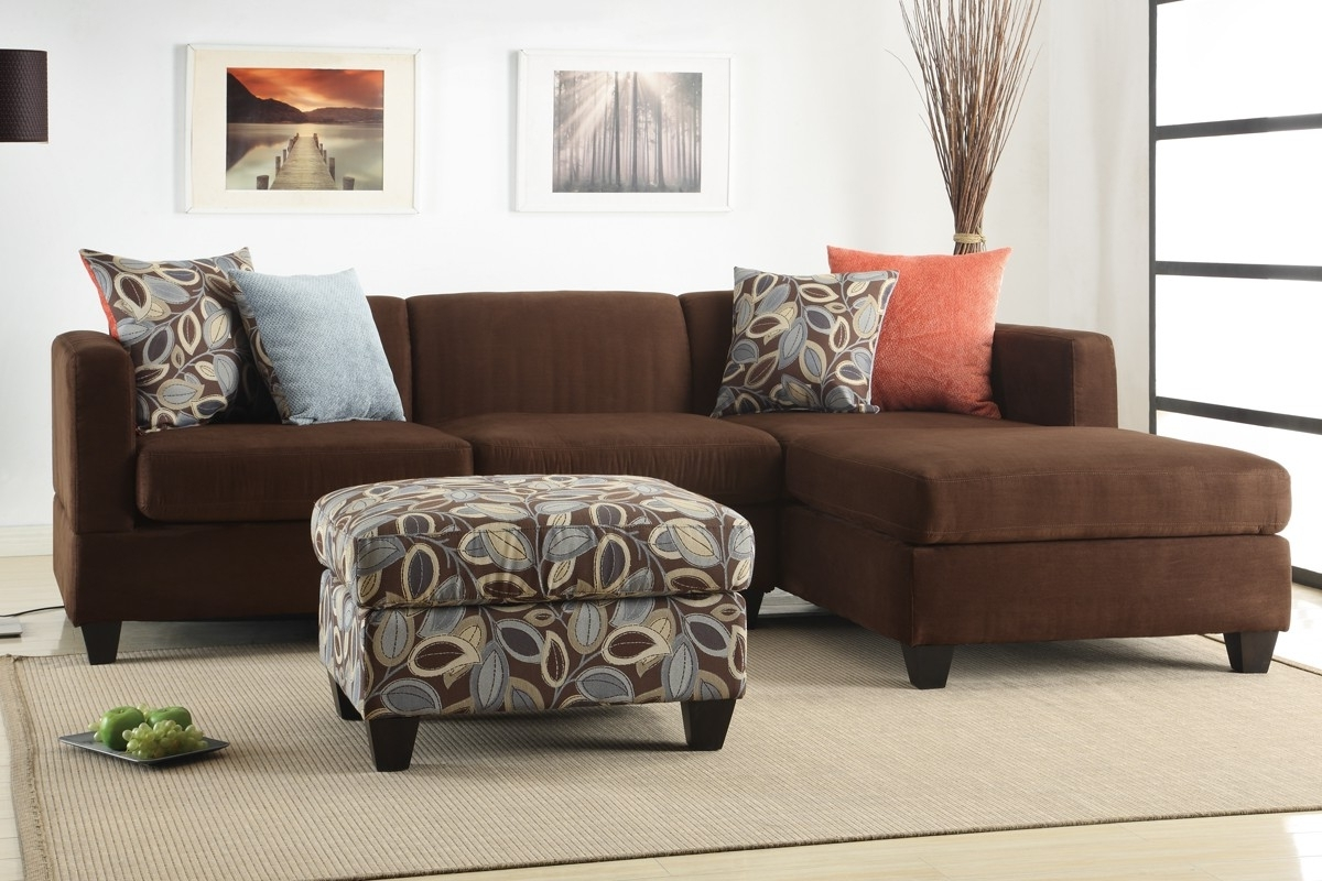 Sofas With Reversible Chaise With Most Recent Chocolate Microfiber Sectional Sofa F7182 Lowest Price – Sofa (View 11 of 15)