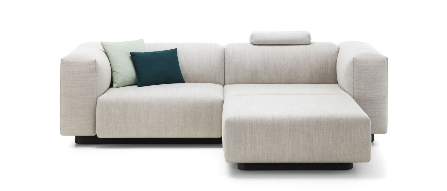 Soft Modular Sofa Two Seater, Chaise Longue Pertaining To Chaise Lounge Couches (View 14 of 15)