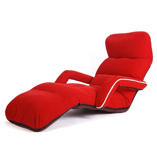 Soft Sofas Inside Best And Newest Chaise Lounge Chairs For Bedroom Adjustable Foldable Soft Suede (View 8 of 10)