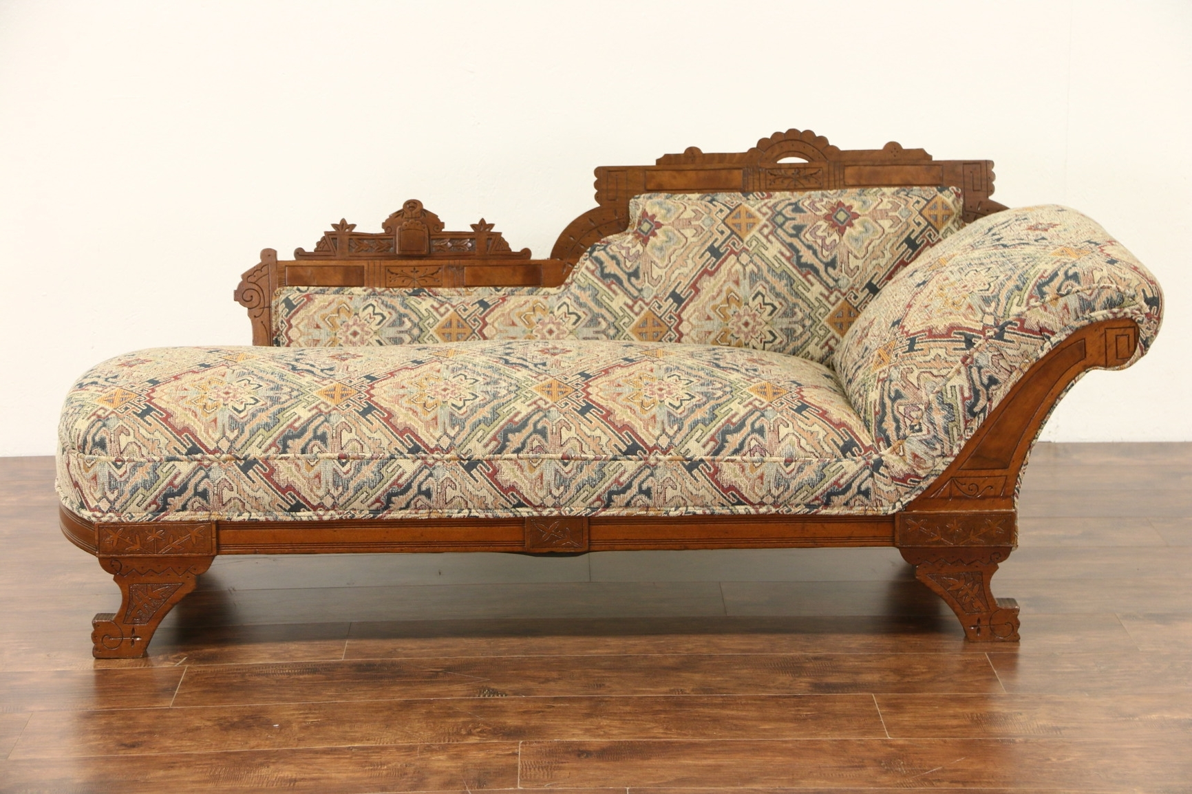 Sold – Victorian Eastlake 1880 Antique Chaise Lounge Or Fainting In Most Recently Released Antique Chaise Lounges (View 14 of 15)
