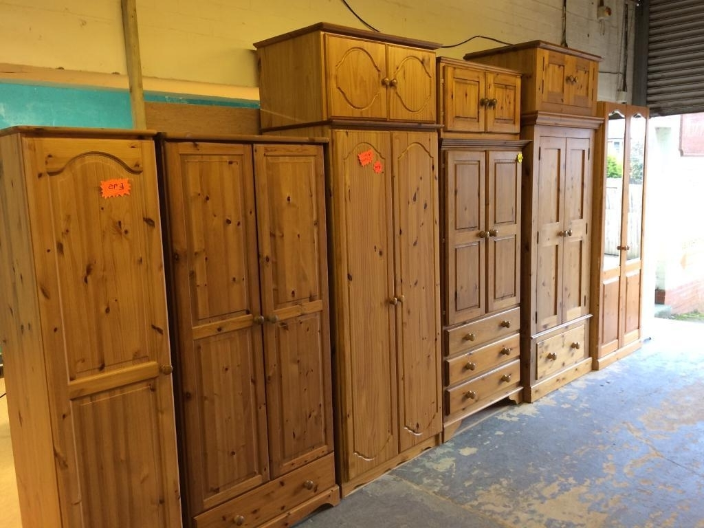 Solid Wood / Pine Single And Double Wardrobes (View 11 of 15)