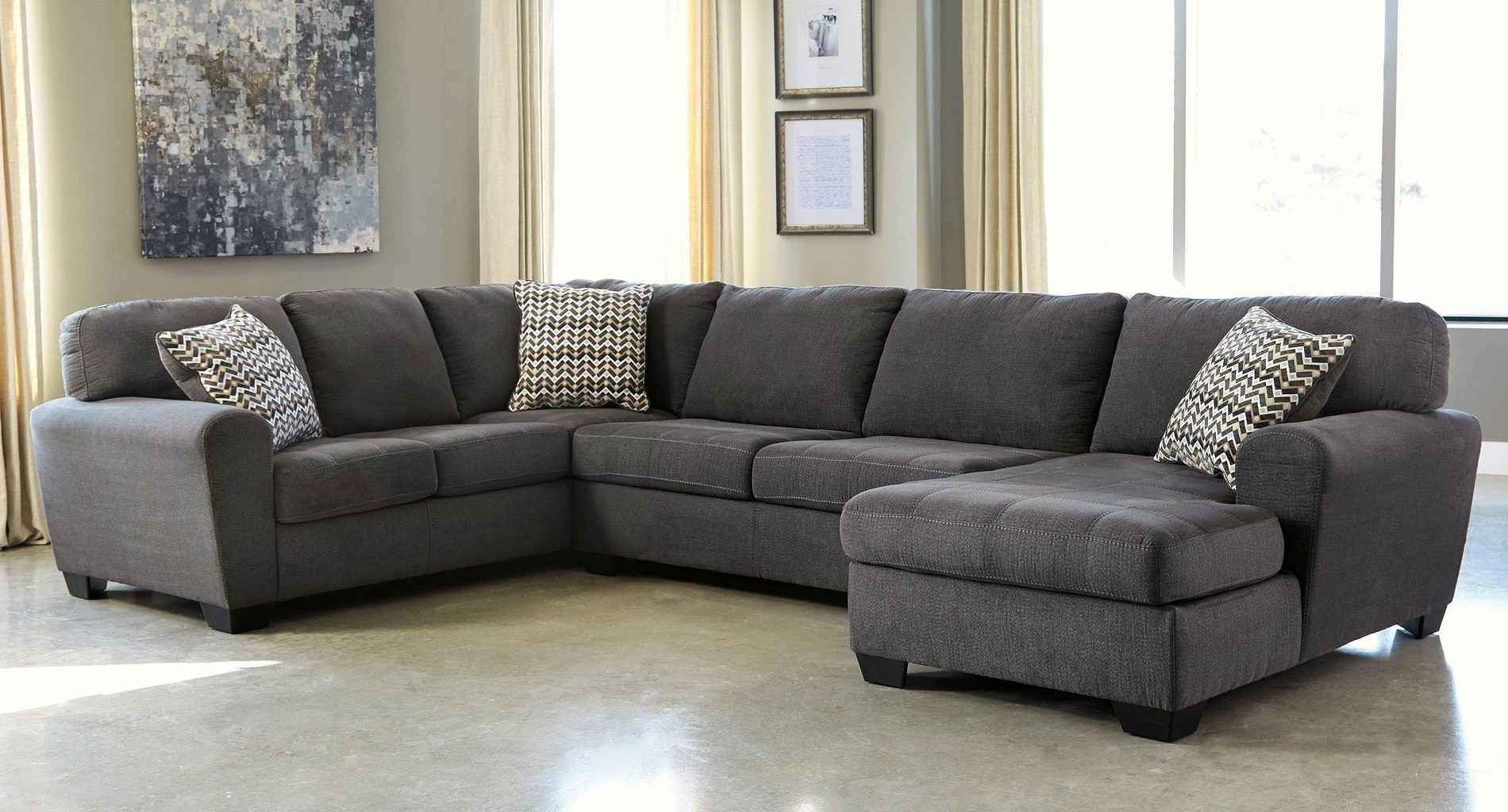 Sorenton Slate Left Facing Chaise Sectional – Sectionals – Living Within 2018 Right Facing Chaise Sectionals (View 14 of 15)