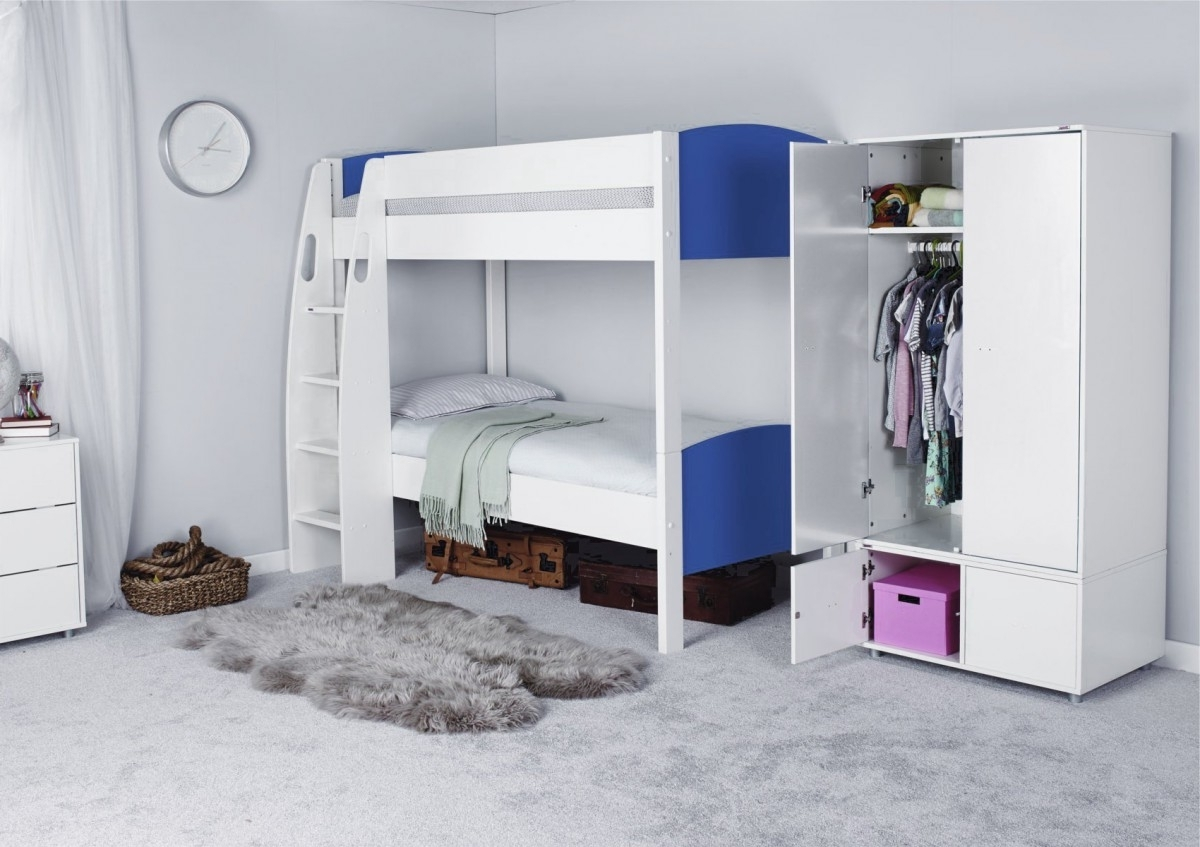 Stompa Unos Detachable Bunk Bed – Only – Childrens Beds – Beds For Latest Stompa Wardrobes (View 10 of 15)