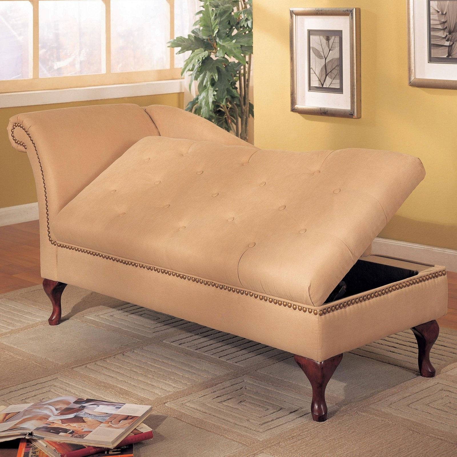Storage Chaise Lounges Intended For Most Recently Released Indoor Chaise › Indoor Chaise Lounge With Storage Chaise Lounges (View 9 of 15)