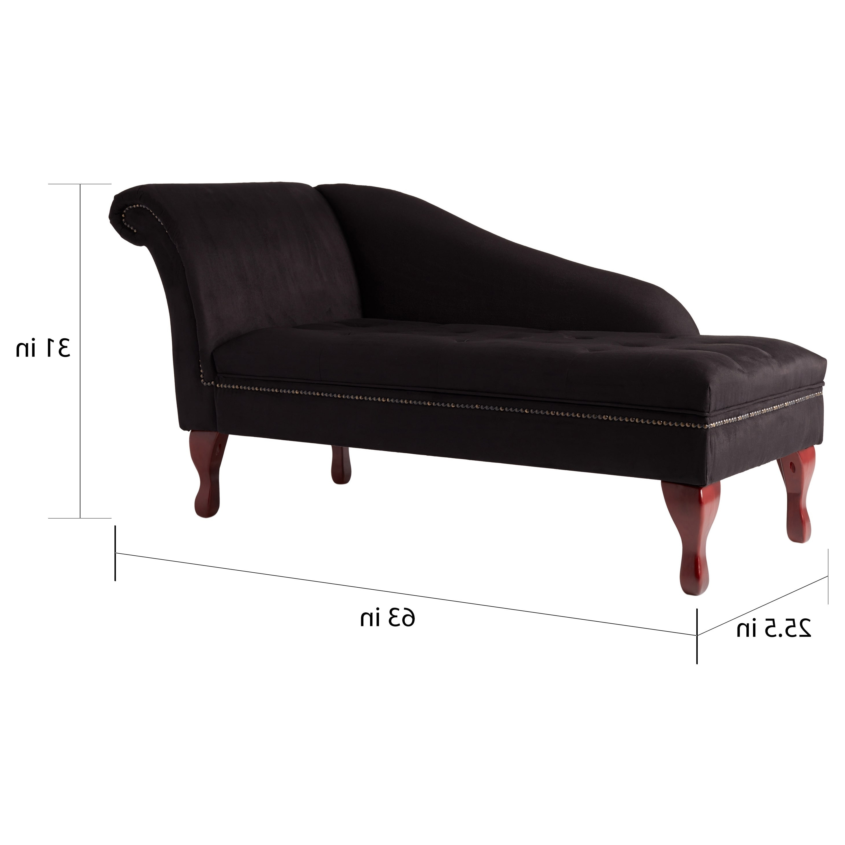 Storage Chaise Lounges Within Favorite Simple Living Black Storage Chaise Lounge – Free Shipping Today (View 14 of 15)