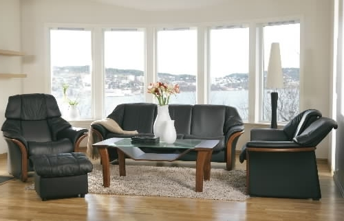 Stressless Eldorado Low Back Leather Ergonomic Sofa Couch Pertaining To Popular Ergonomic Sofas And Chairs (View 8 of 10)