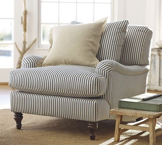 Striped Sofas And Chairs Regarding Preferred Carlisle Upholstered Armchair (View 8 of 10)