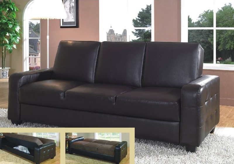 Stunning Leather Sofa Bed With Storage Sofa Sofa Bed Storage Sofas In Most Recently Released Leather Sofas With Storage (View 4 of 10)