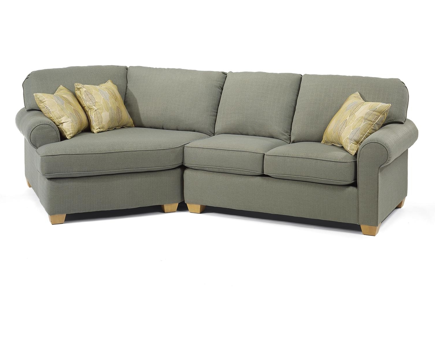 Stylish Small Sectional Sofa With Chaise — Fabrizio Design In Widely Used Small Sectional Sofas With Chaise (View 15 of 15)