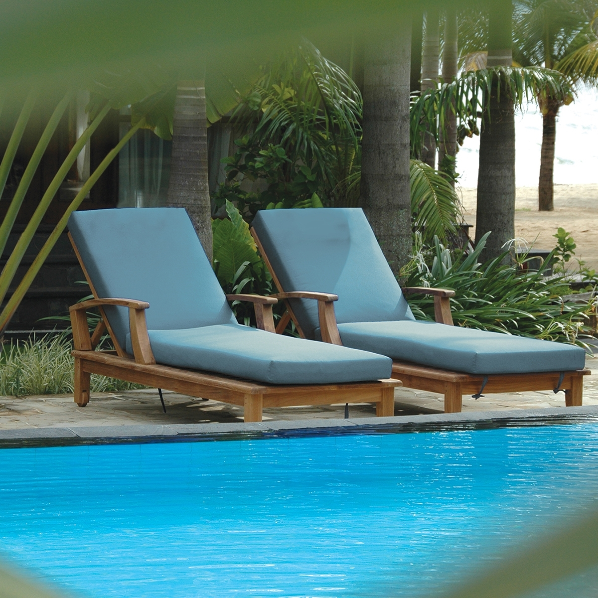 Sunbrella Chaise Cushions With Popular Chaise Cushion Replacement (View 10 of 15)