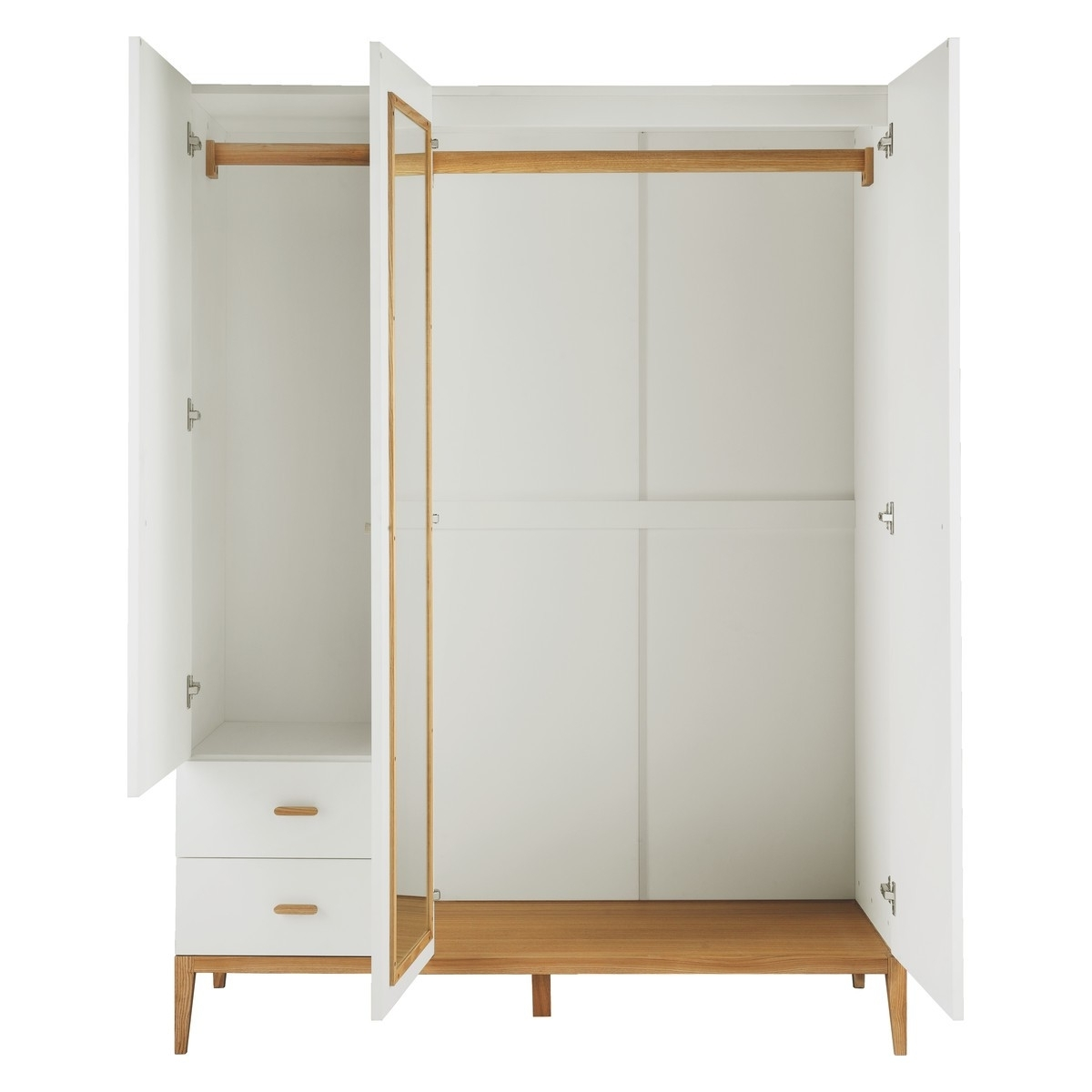 Tatsuma Ash White 3 Door Wardrobe (View 1 of 15)