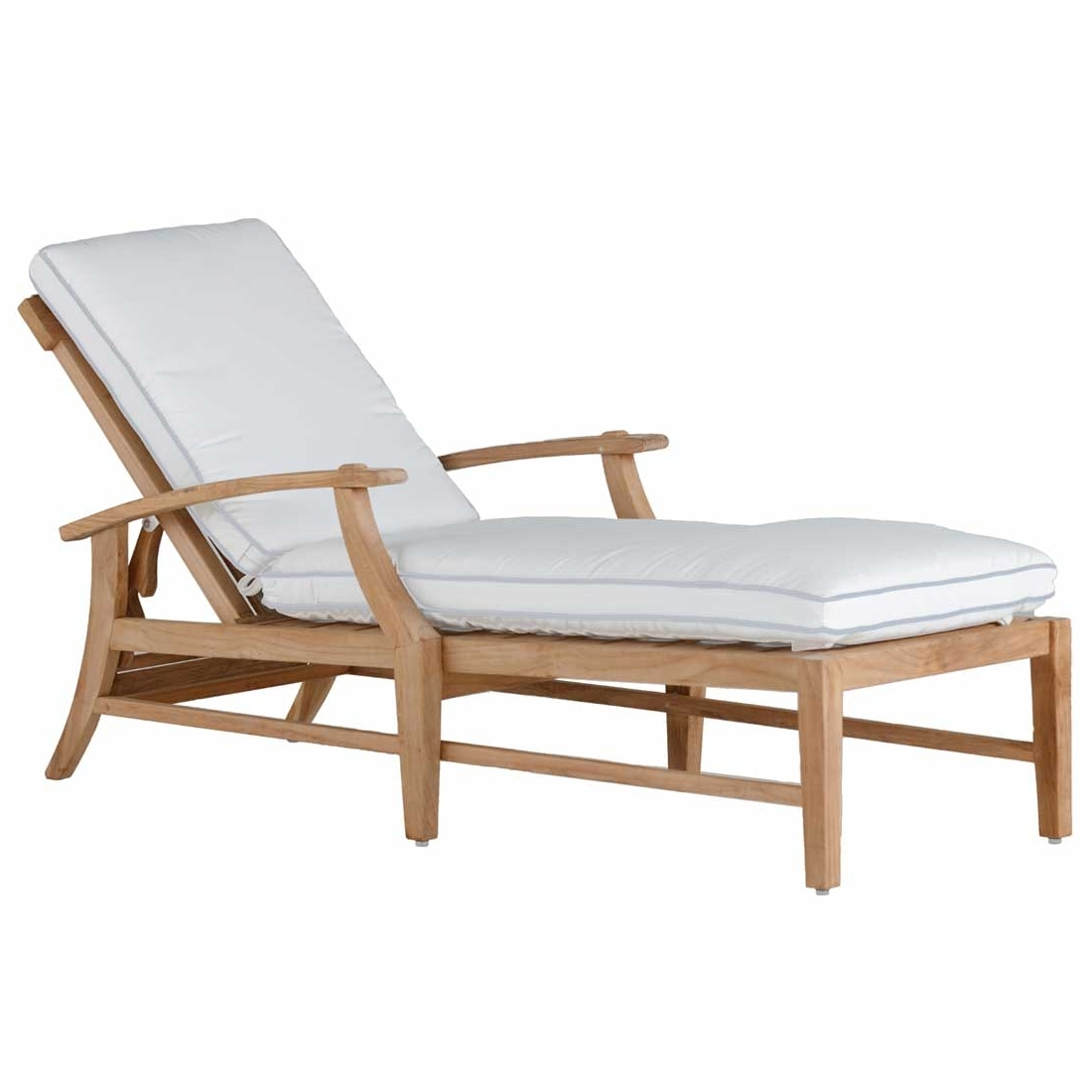 Teak Chaise Lounges In Favorite Croquet Teak Chaise – Summer Classics (View 4 of 15)