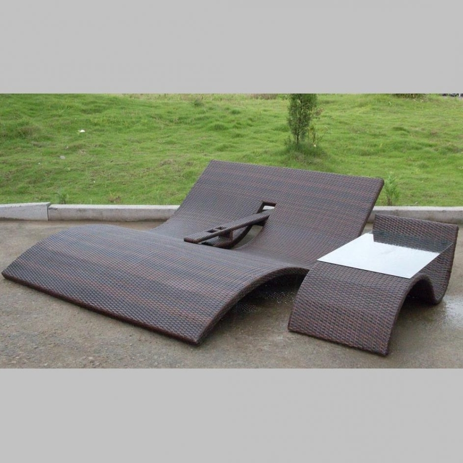 Teak Double Chaise Lounge Jcpenney Furniture Lane Furniture Regarding Recent Outdoor Double Chaises (View 7 of 15)