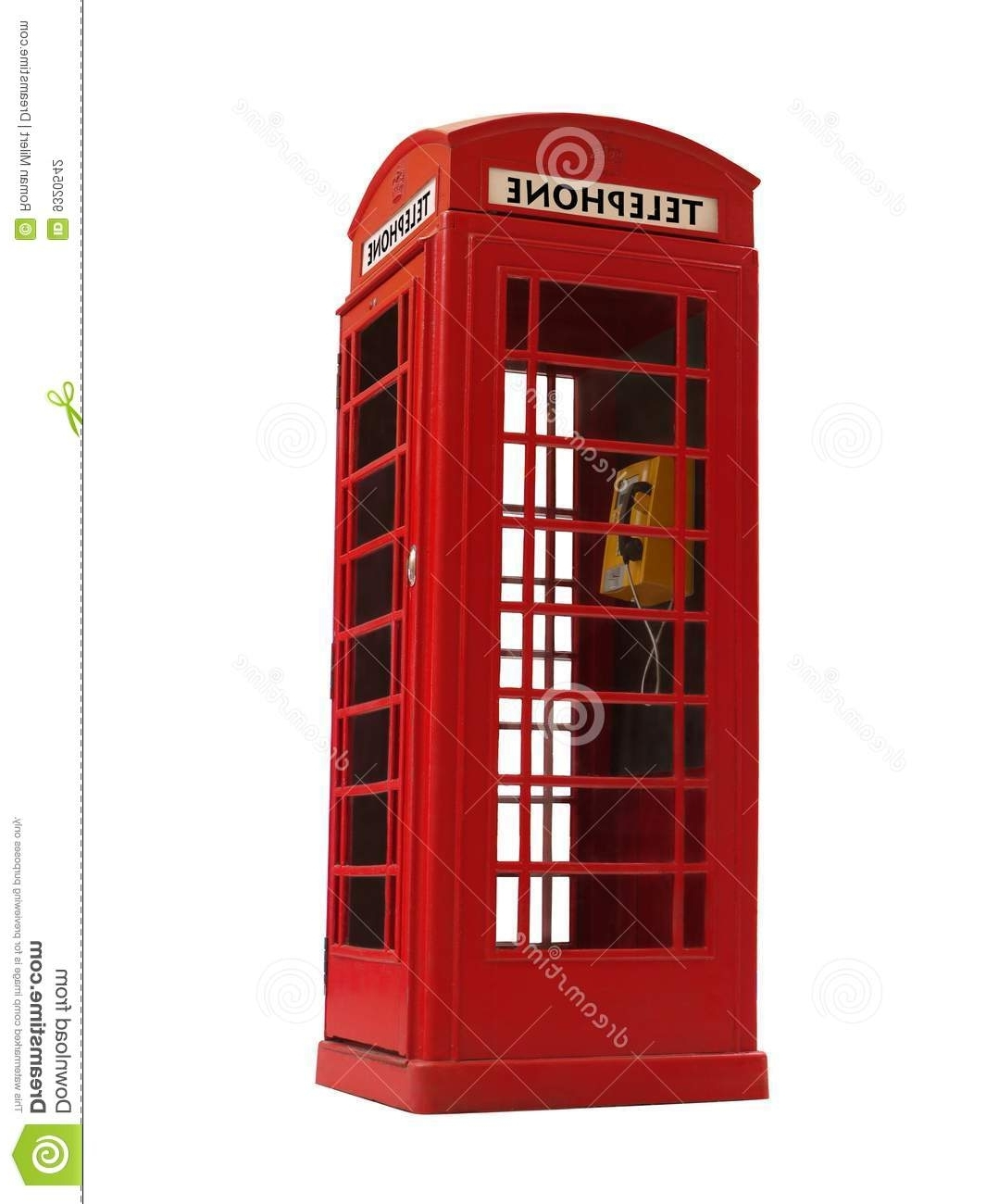 Telephone Box Wardrobes Inside Well Known Telephone Booth Stock Photo (View 10 of 15)