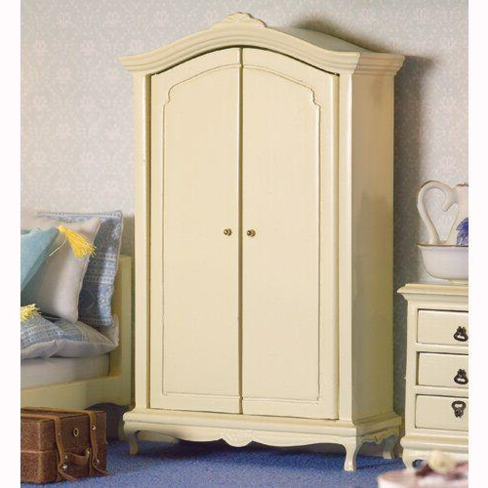 The Dolls House Emporium French Style Cream Double Wardrobe Intended For Recent Cheap French Style Wardrobes (View 15 of 15)