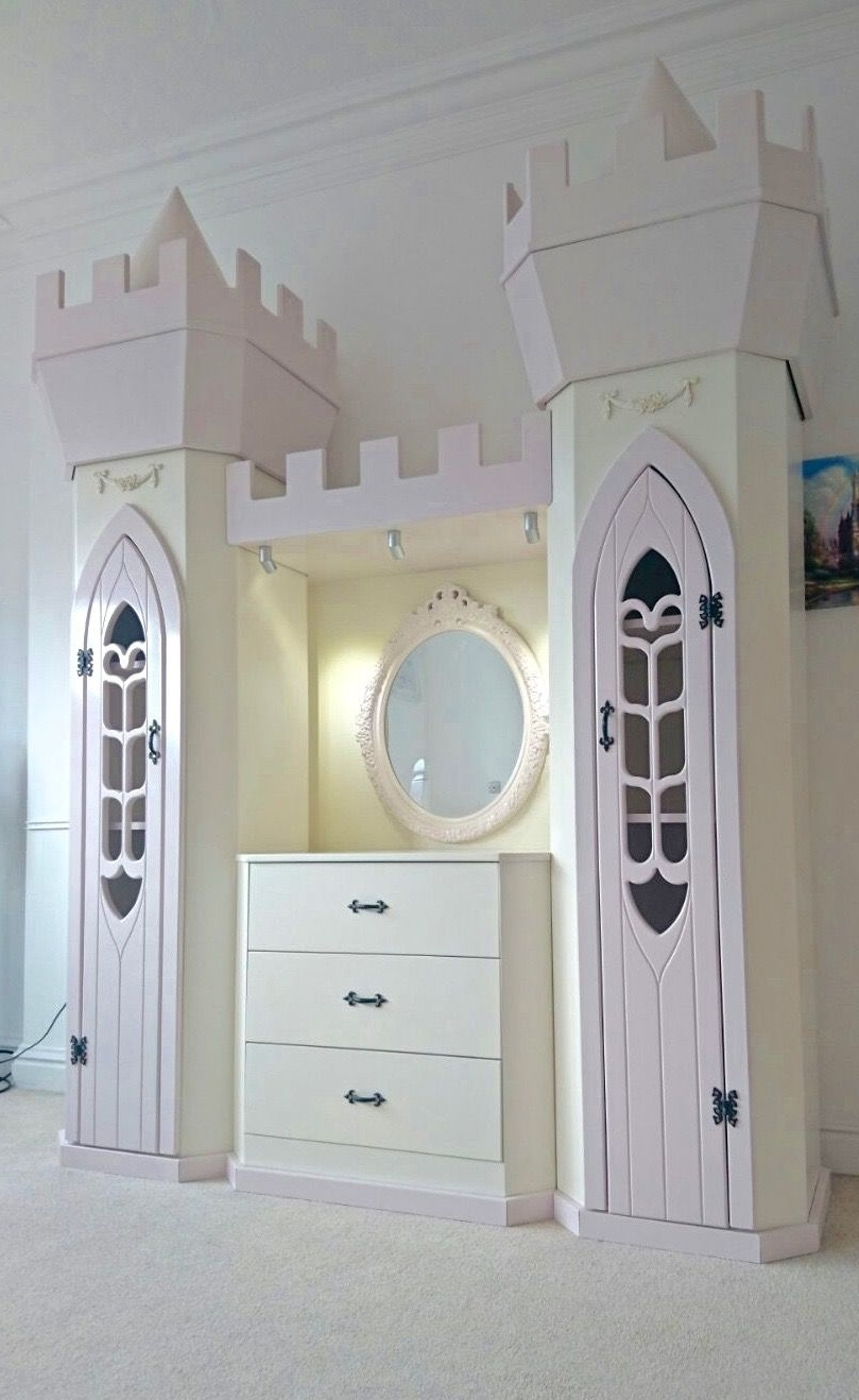 The Princess Wardrobes Inside Fashionable Princess Dream Fairytale Themed Wardrobe And Dresser Design (View 6 of 11)