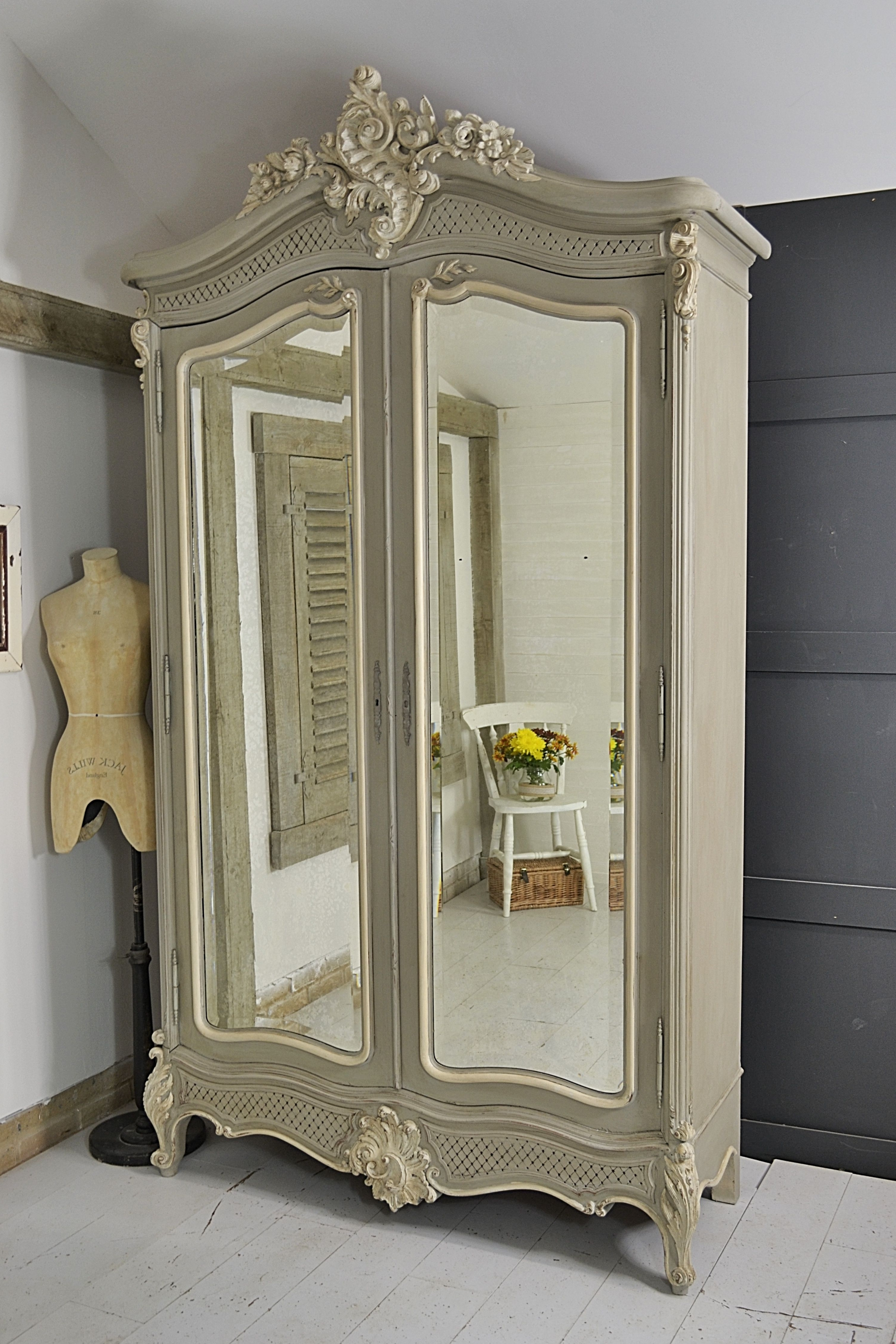 This Beautiful Shabby Chic French Armoire Would Make A Grand Regarding Well Known Single French Wardrobes (View 15 of 15)