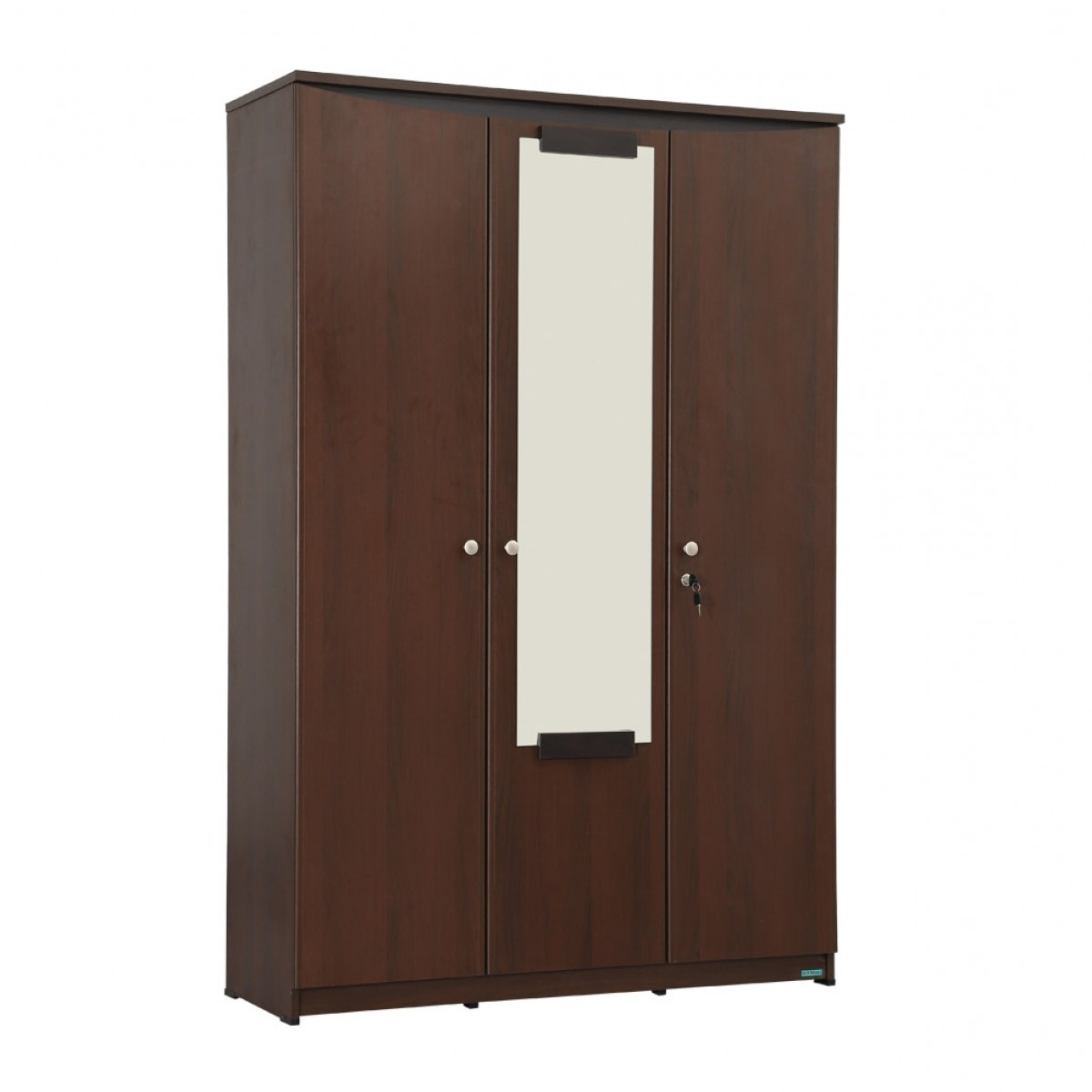 Three Door Wardrobes With Mirror With 2018 Riya 3 Door Wardrobe With Mirror (View 9 of 15)