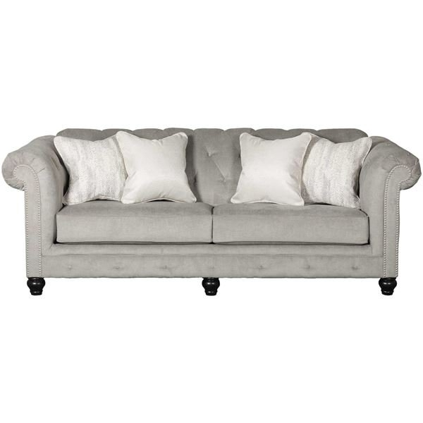 Tiarella Silver Tufted Sofa (View 8 of 10)