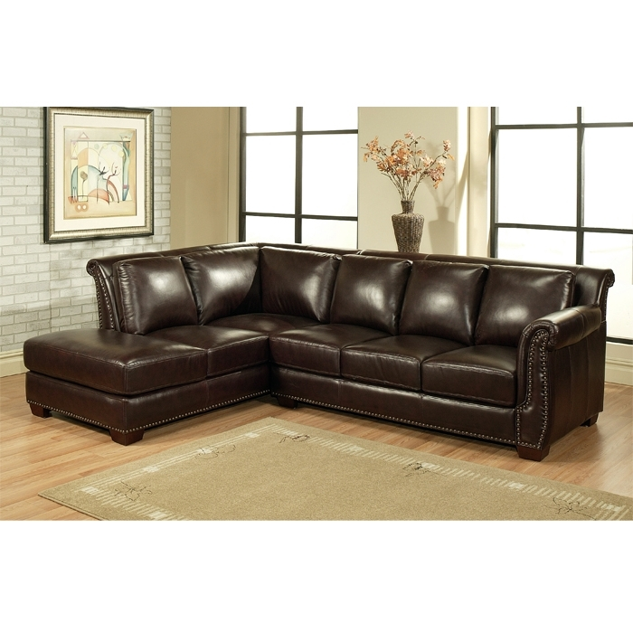 Top Leather Sectional Sofa Chaise Leather Sofa With Chaise Lounge Intended For 2018 Leather Sectionals With Chaise And Ottoman (View 8 of 10)