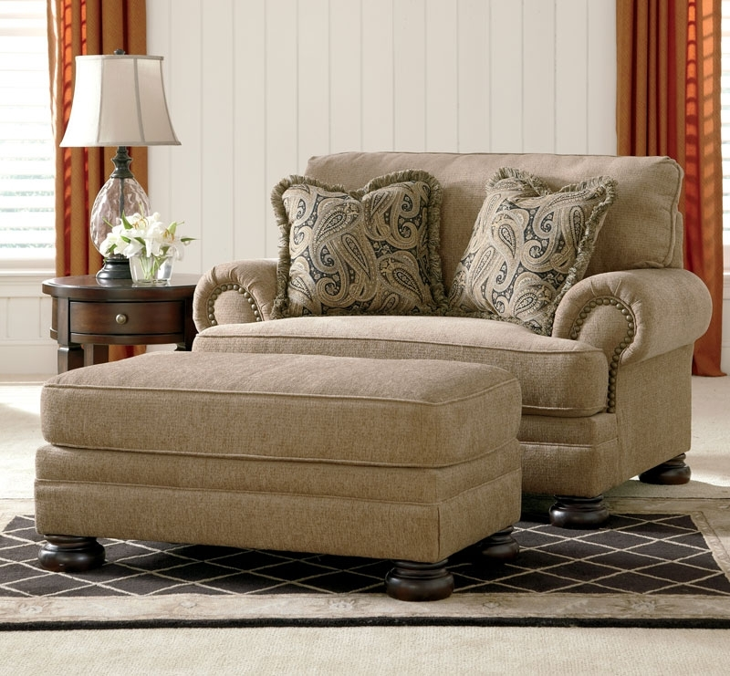 Traditional Sofas And Chairs Pertaining To Most Current Joyce – Traditional Tan Oversized Chenille Sofa Couch Set Living (View 10 of 10)