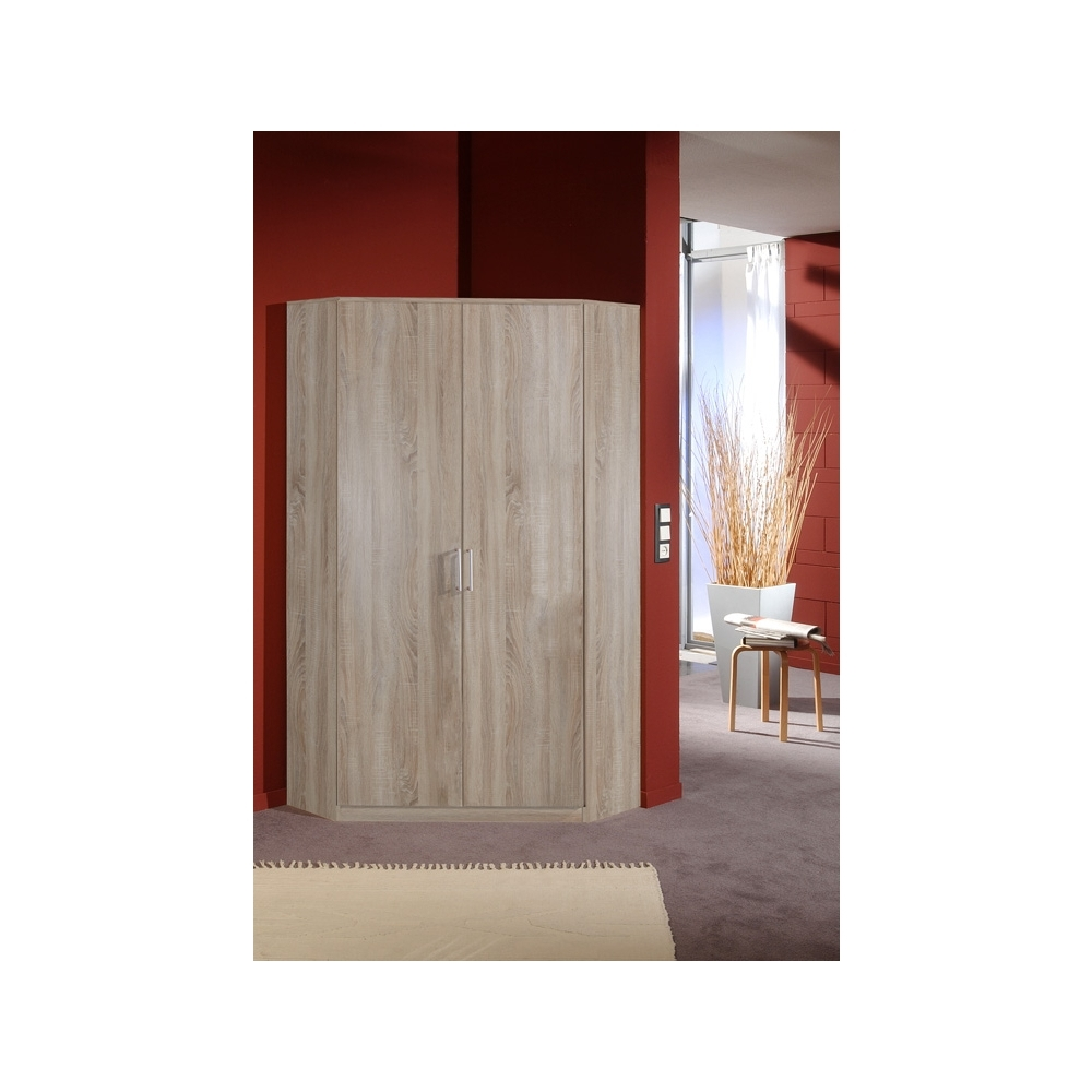 Trendy 2 Door Corner Wardrobes With Effect 2 Door Corner Wardrobe 95Cm (View 15 of 15)