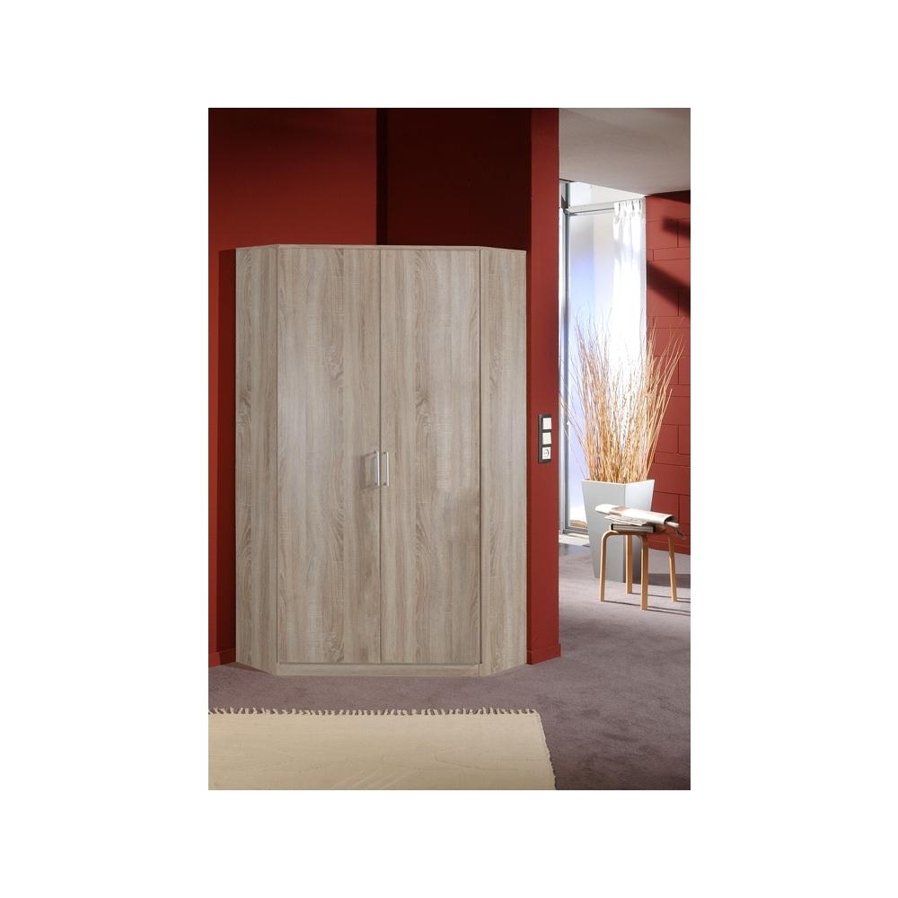 Trendy 2 Door Corner Wardrobes With Effect 2 Door Corner Wardrobe 95cm (View 7 of 15)