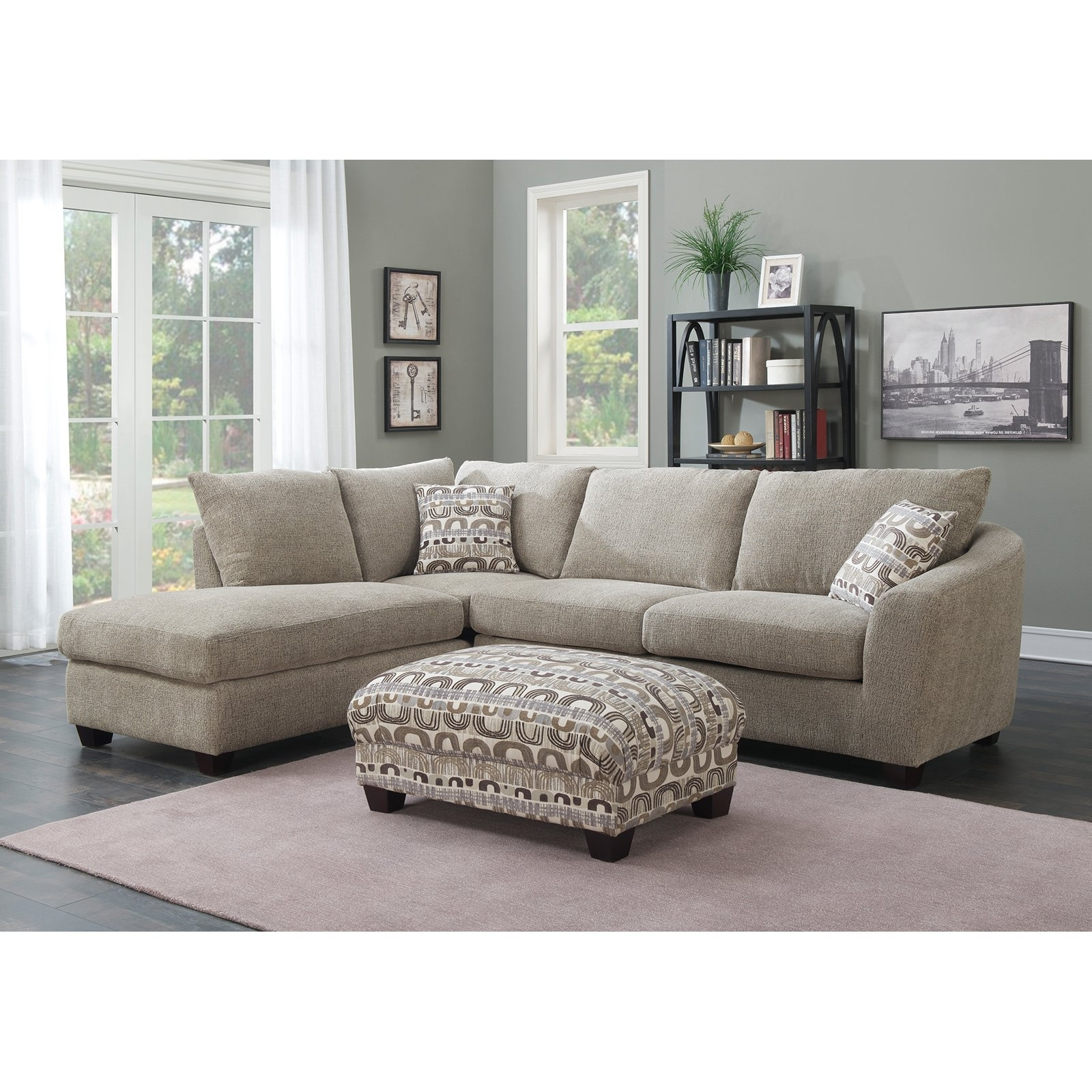 Trendy 2 Piece Sectionals With Chaise With Emerald Home Urbana 2 Piece Sectional Sofa With Chaise – Walmart (View 4 of 15)