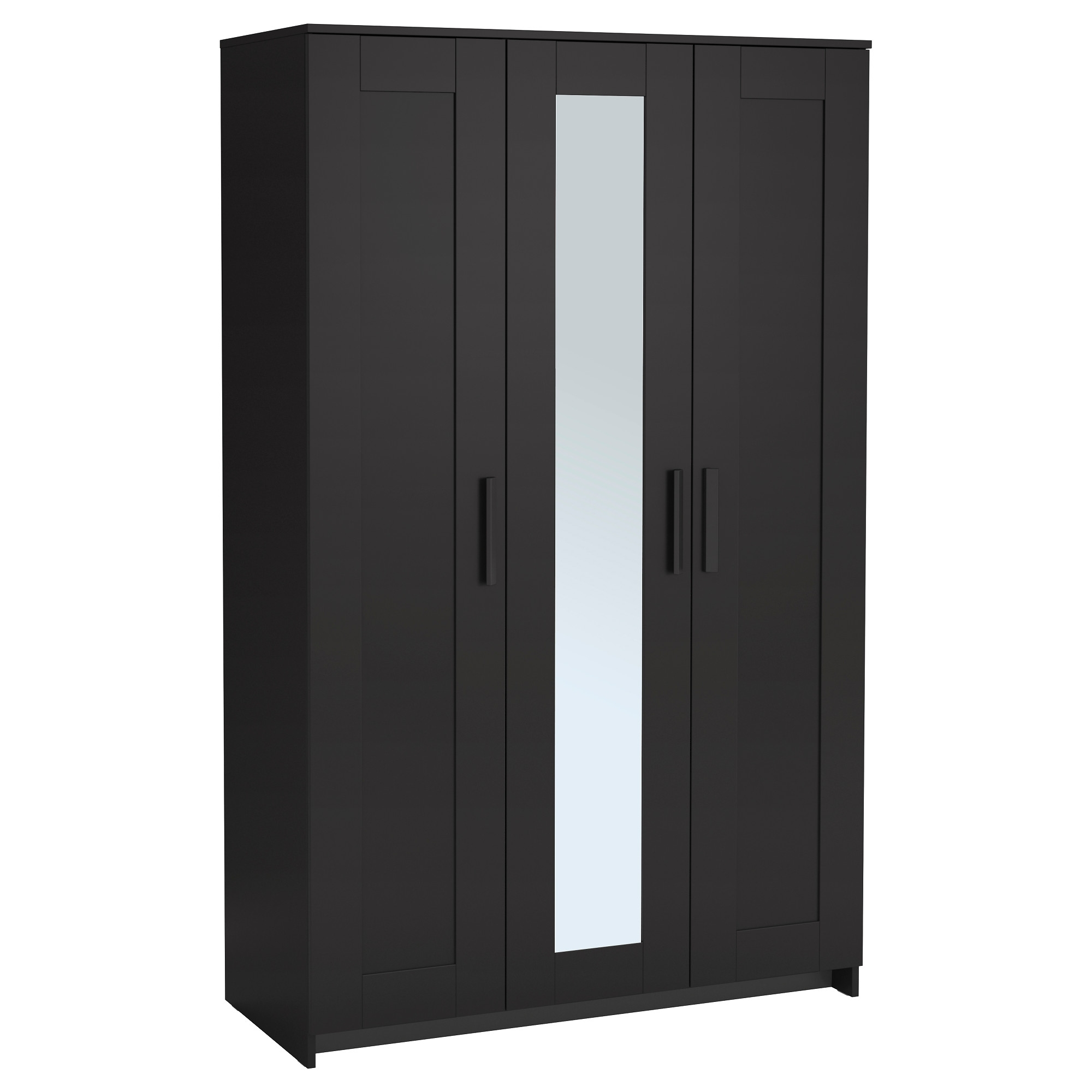 Trendy 3 Door Black Wardrobes Intended For Brimnes Wardrobe With 3 Doors – White – Ikea (View 13 of 15)