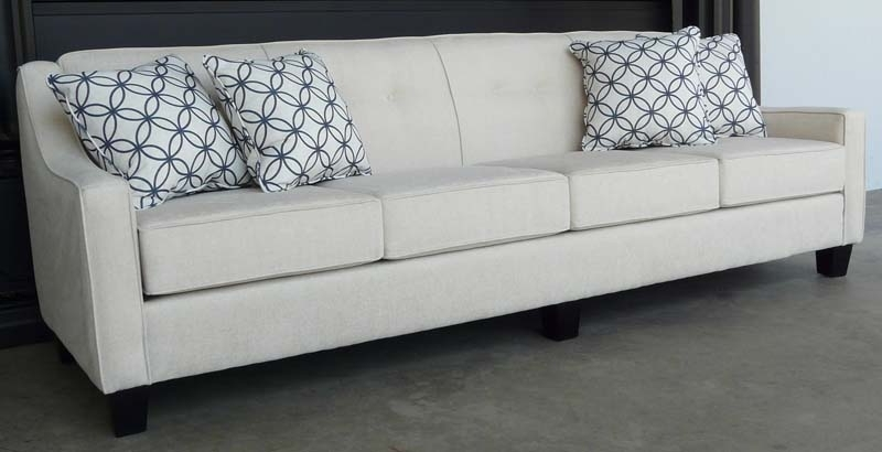 Trendy 4 Seater Sofas With Natalie 4 Seater Sofa No Base (View 4 of 15)