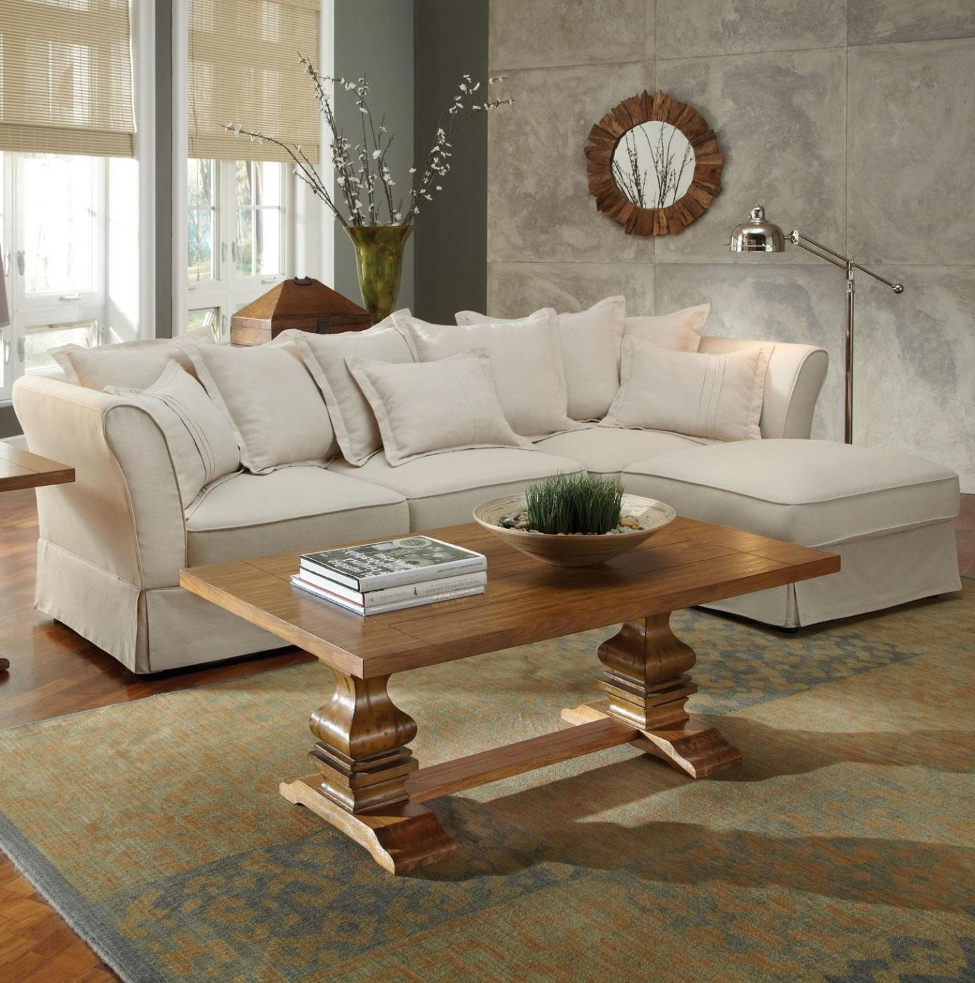 Trendy Beige Fabric Sectional Sofa – Steal A Sofa Furniture Outlet Los Within Beige Sectionals With Chaise (View 15 of 15)