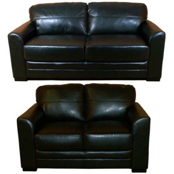 Trendy Black 2 Seater Sofas Pertaining To 2 Seater Black Leather Sofa Bed (View 8 of 10)