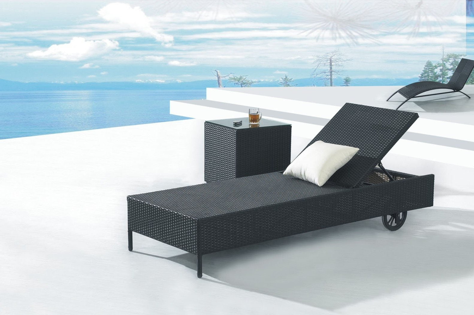 Trendy Black Outdoor Chaise Lounge Chairs With Regard To Decorating Pool Chaise Lounge Chairs — Bed And Shower (View 14 of 15)