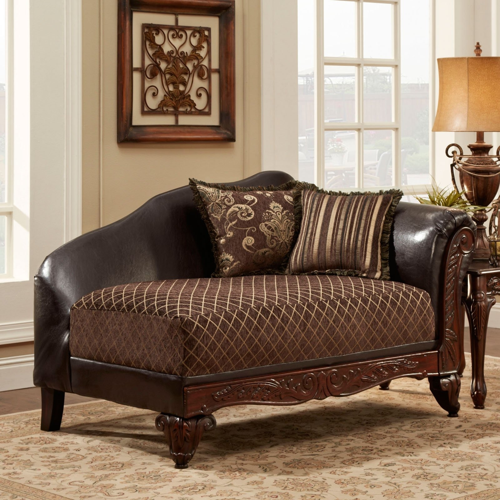 Trendy Brown Chaise Lounges With Madison Tufted Chaise Lounge (View 12 of 15)