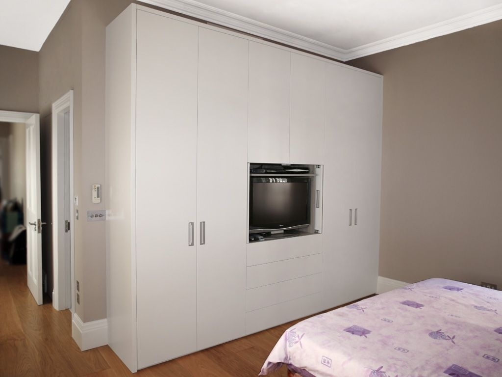 Trendy Charming Silver And White Bedroom #2: Modern Built In Bedroom In White Bedroom Wardrobes (View 12 of 15)