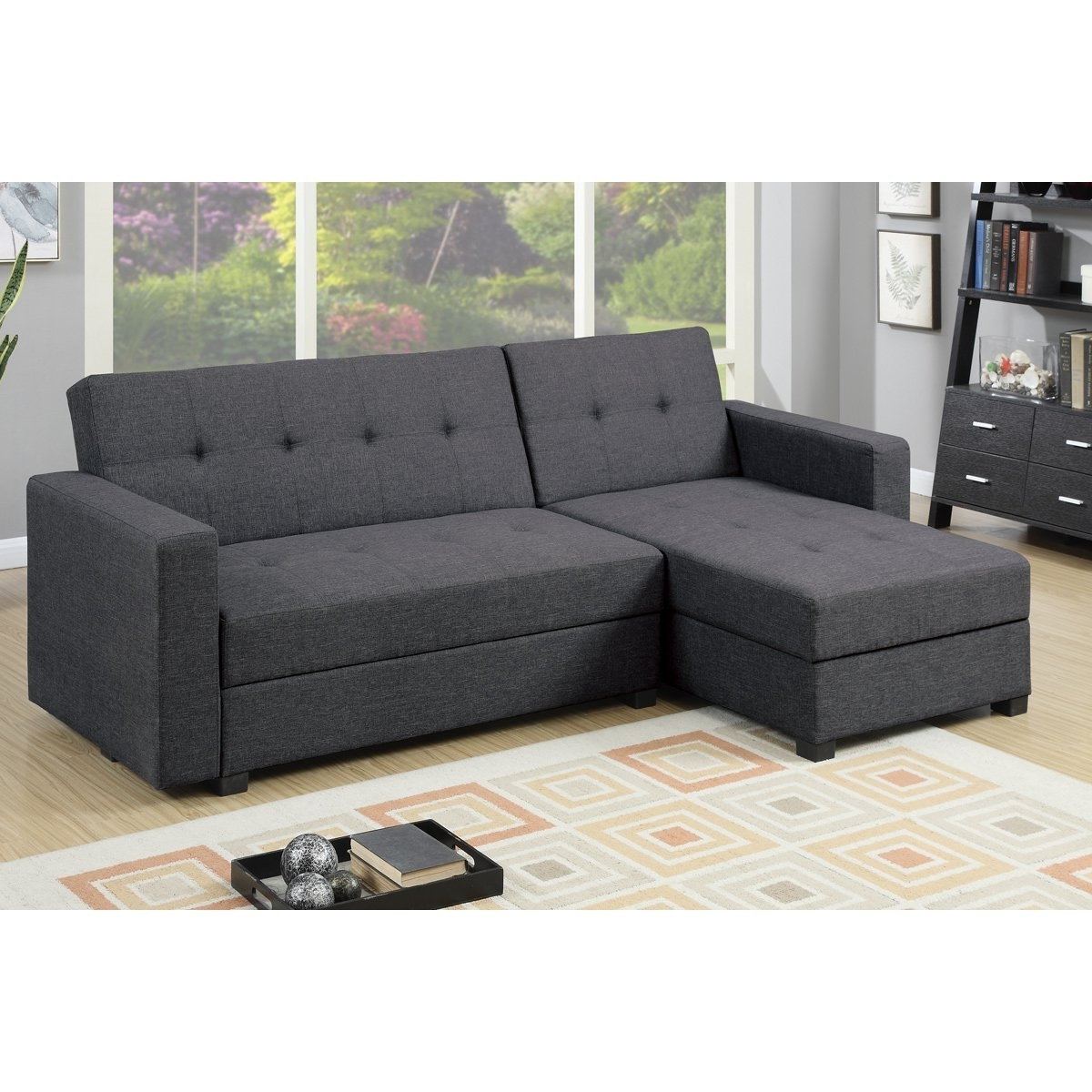 Trendy Furniture: Reversible Chaise Sectional For Comfortable Living Room Intended For Sectional Chaises (View 13 of 15)