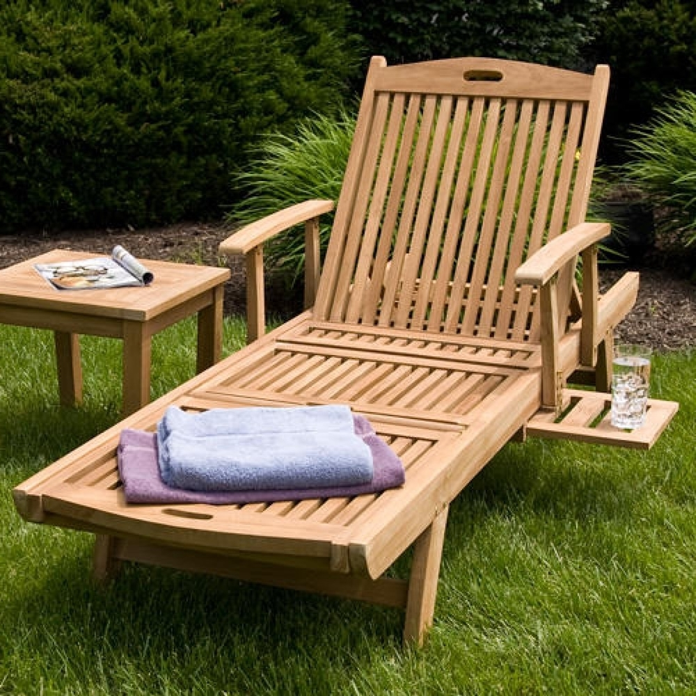 Trendy How To Build Chaise Lounge Chairs Outdoor — Bed And Shower With Wood Chaise Lounge Chairs (View 7 of 15)