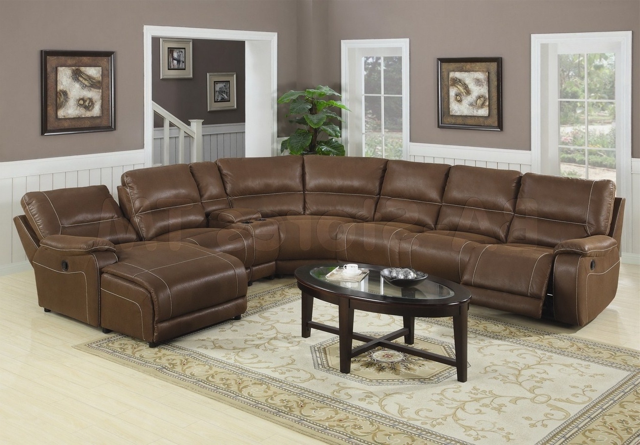 Trendy Huge Brown Leather Sectional Sofa With Chaise Lounge And Recliners For Sectionals With Chaise Lounge (View 13 of 15)