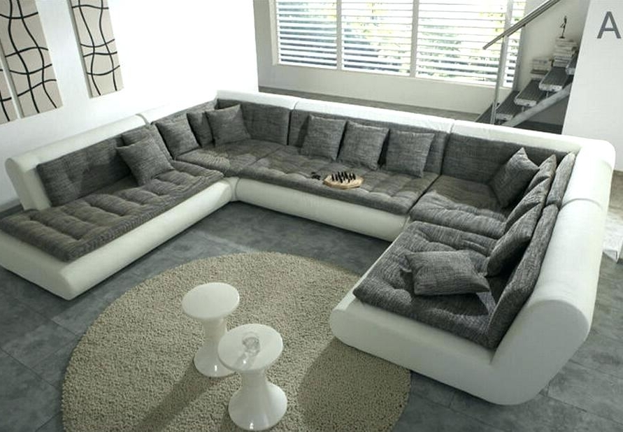 Trendy Modern U Shaped Sectional Sofas Within U Shaped Sectional With Chaise Wonderful U Shaped Sectional Couch (View 4 of 10)