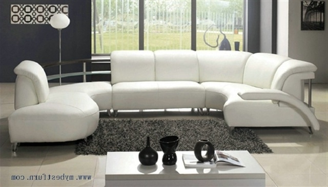 Trendy Nice White Leather Sofa Free Shipping Fashion Design Comfortable Inside Comfortable Sofas And Chairs (View 3 of 10)