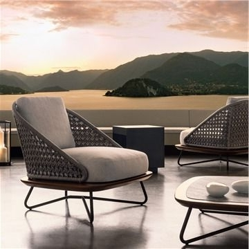 Trendy Outdoor Sofas And Chairs Within Minotti Rivera Armchair – Style # Riveraarmchair, Modern Outdoor (View 2 of 10)